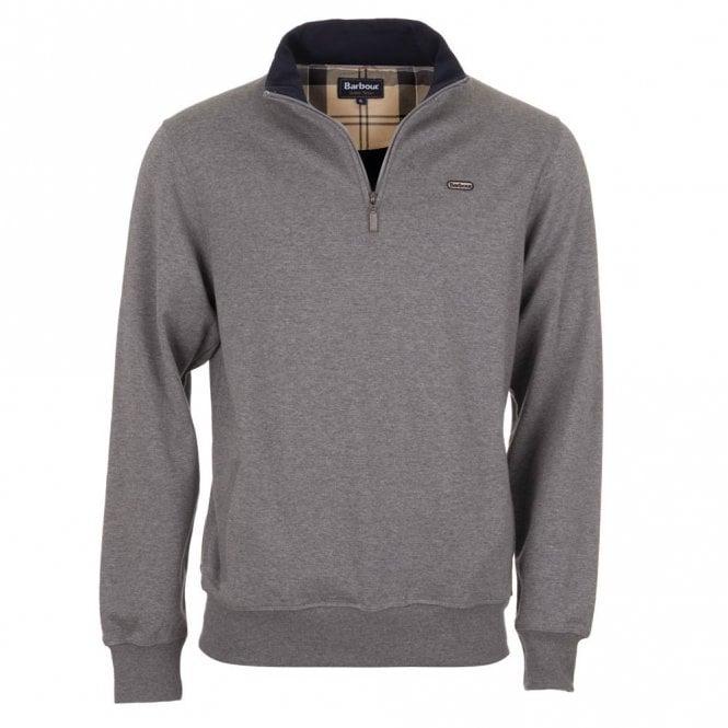 Barbour Maxton Half Zip Sweater - Grey