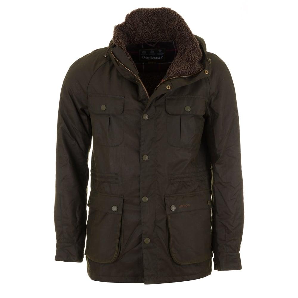 Barbour Men S Brindle Wax Jacket Fern Green