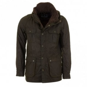 Men's Brindle Wax Jacket - Fern Green