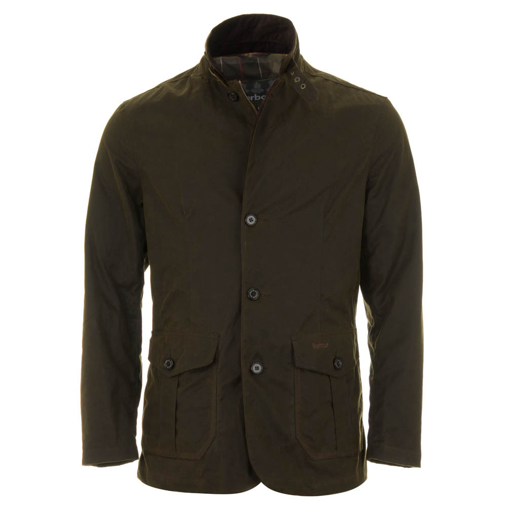Barbour Lutz Waxed Jacket Olive Green Mwx0566ol51