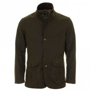 Men's Lutz Wax Jacket - Olive Green