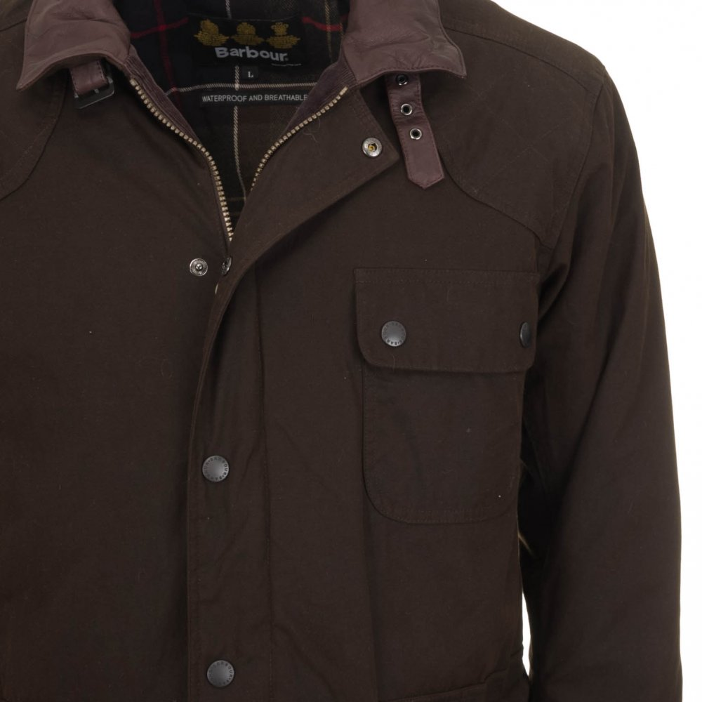 98625ef38 Barbour Men's Rynie Waterproof Jacket | Olive Green | Free Shipping