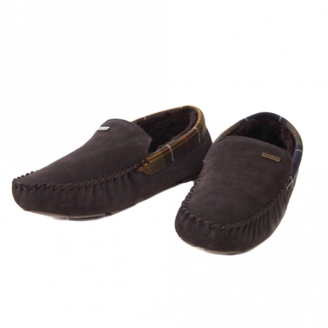 Barbour Monty Brown Slipper - Brown