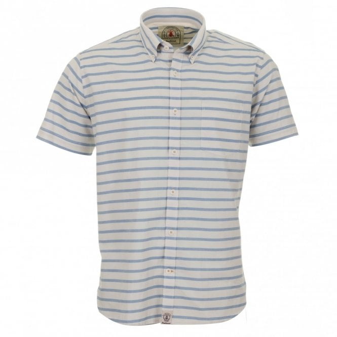 Barbour Old Salt Short Sleeve Shirt - Blue Stripe