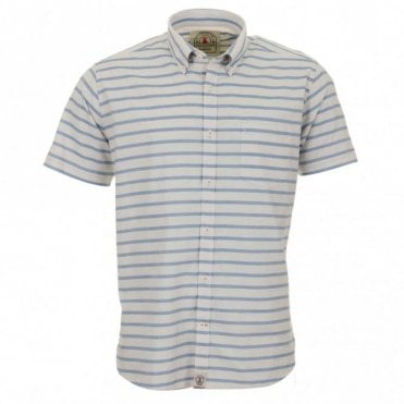 Old Salt Short Sleeve Shirt - Blue Stripe