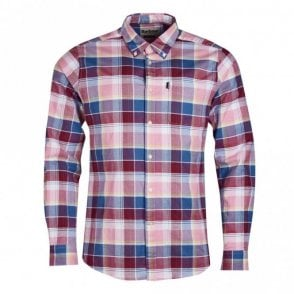 Barbour Oxford Check 2 Tailored Fit Shirt - Pink