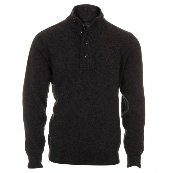 Barbour Patch Half Zip Jumper - Charcoal Grey