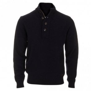 Patch Half Zip Jumper - Navy