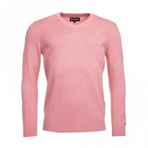 Pima Cotton V-neck - Marl Pink