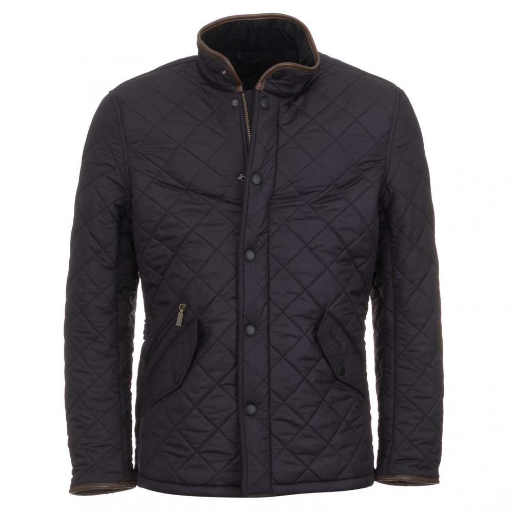 barbour men 39 s powell quilted jacket navy free shipping
