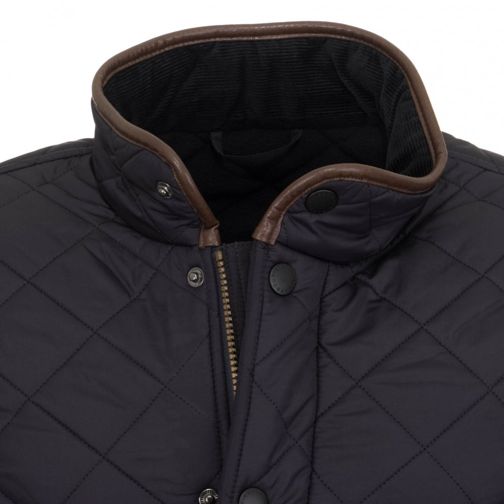 Barbour Men S Powell Quilted Jacket Navy Free Shipping