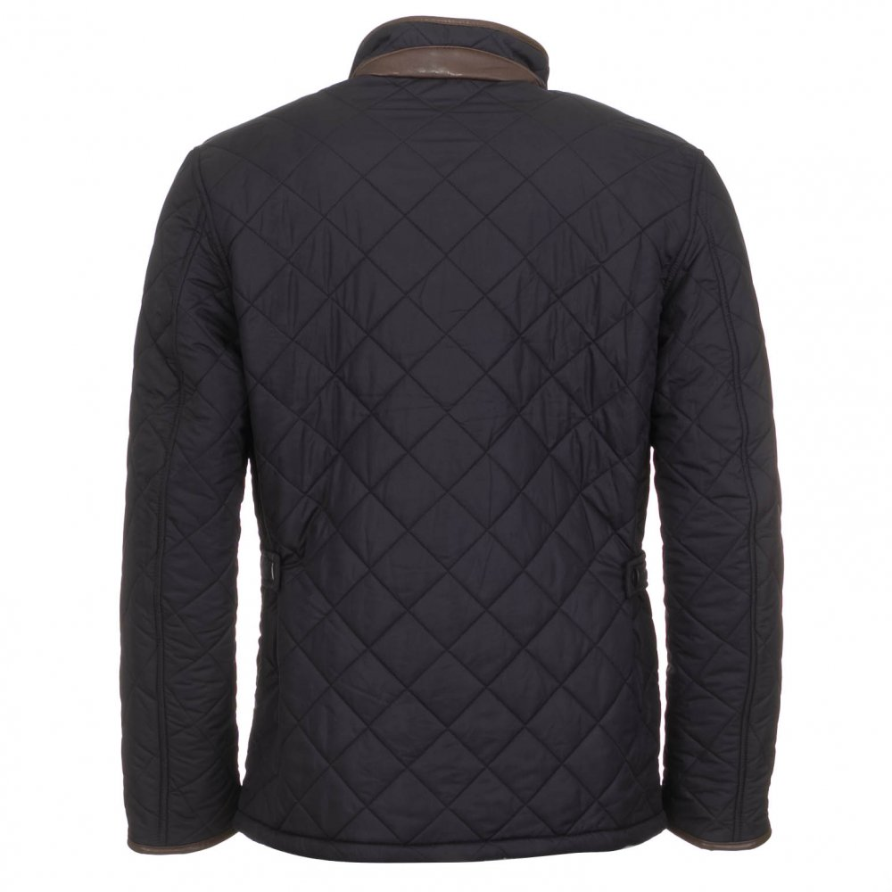 Barbour Men's Powell Quilted Jacket | Navy | Free Shipping : mens quilted coats uk - Adamdwight.com