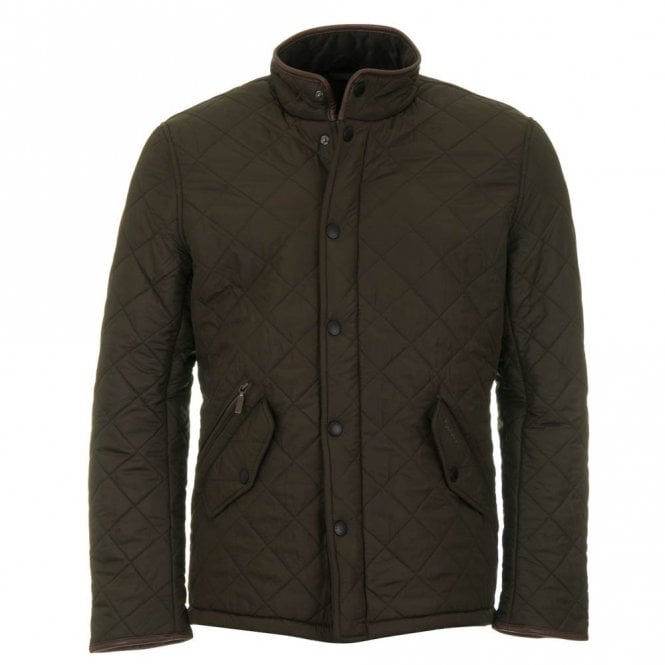 Barbour Powell Quilted Jacket - Olive Green