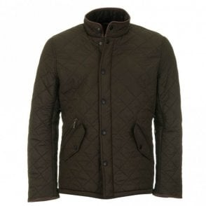 Powell Quilted Jacket - Olive Green