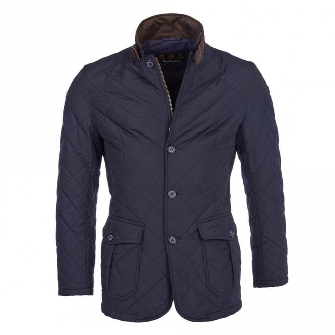 Barbour Quilted Lutz Jacket - Navy