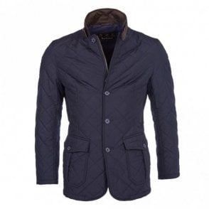 Quilted Lutz Jacket - Navy
