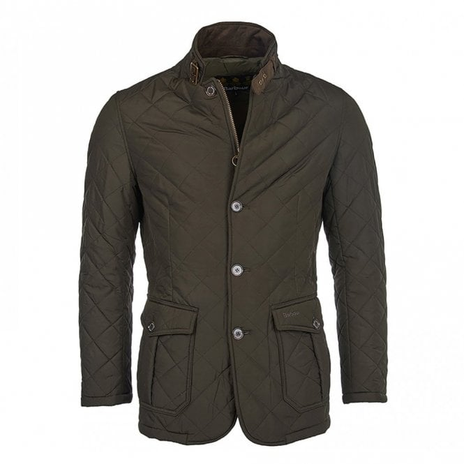 Barbour Quilted Lutz Jacket Olive Green - Green