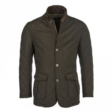Quilted Lutz Jacket Olive Green - Green