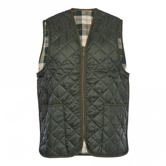 Barbour Quilted Waistcoat / Zip-in Liner - Green