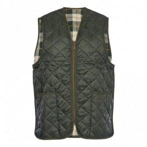 Quilted Waistcoat / Zip-in Liner - Green