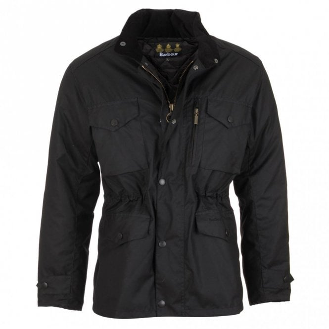 Barbour Sapper Waxed Jacket - Black