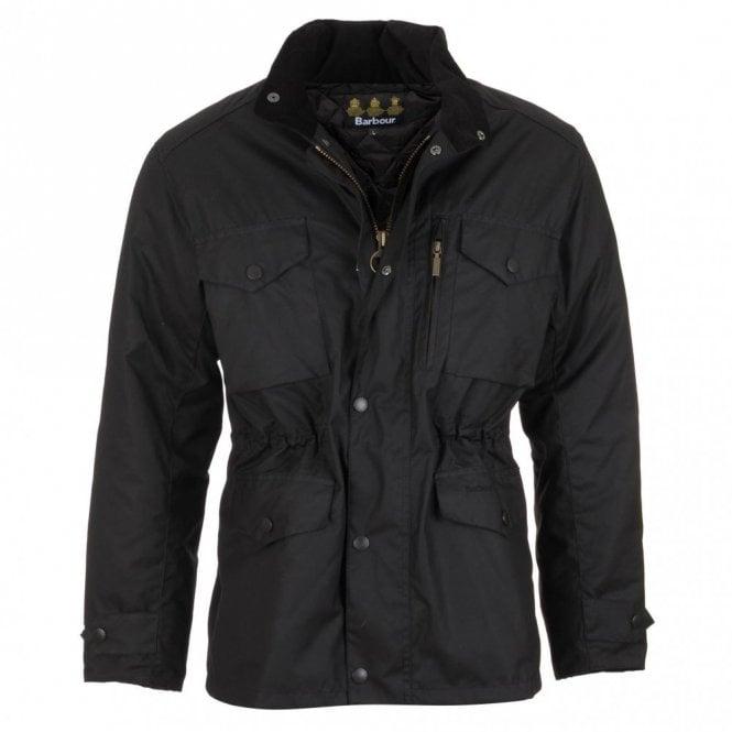 Barbour Sapper Waxed Jacket - Black
