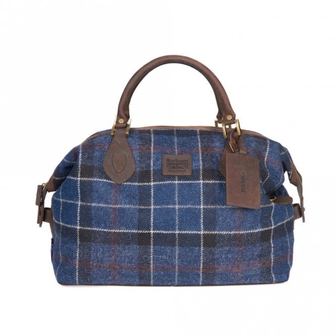 Barbour Shadow Tartan Explorer Bag - Navy/rust Tartan