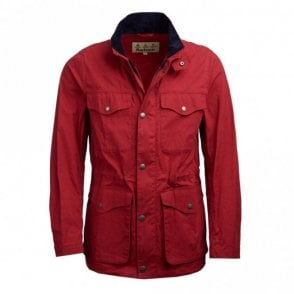 Barbour Skipton Casual Jacket - Lobster Red