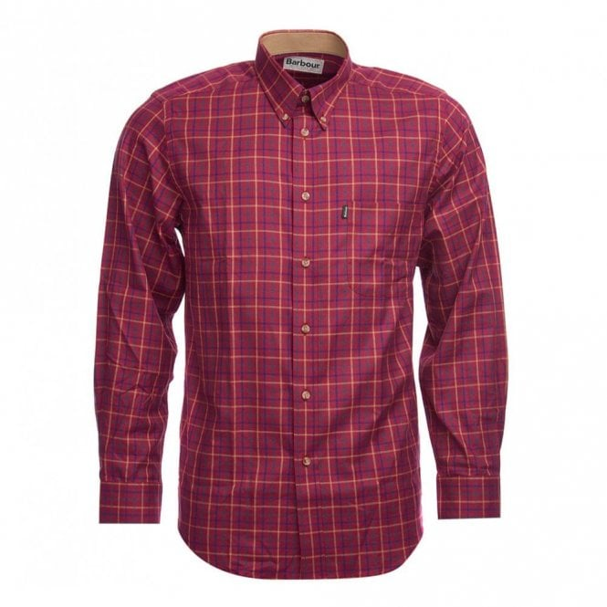 Barbour Sp Tattersall Check Shirt Ruby - Red Check