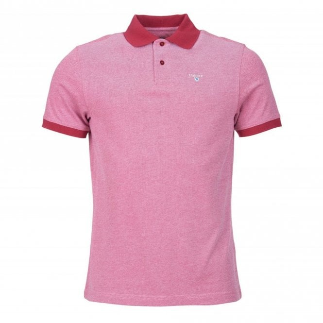 Barbour Sports Polo Shirt - Raspberry Red