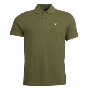Tartan Pique Polo Shirt - Burnt Olive