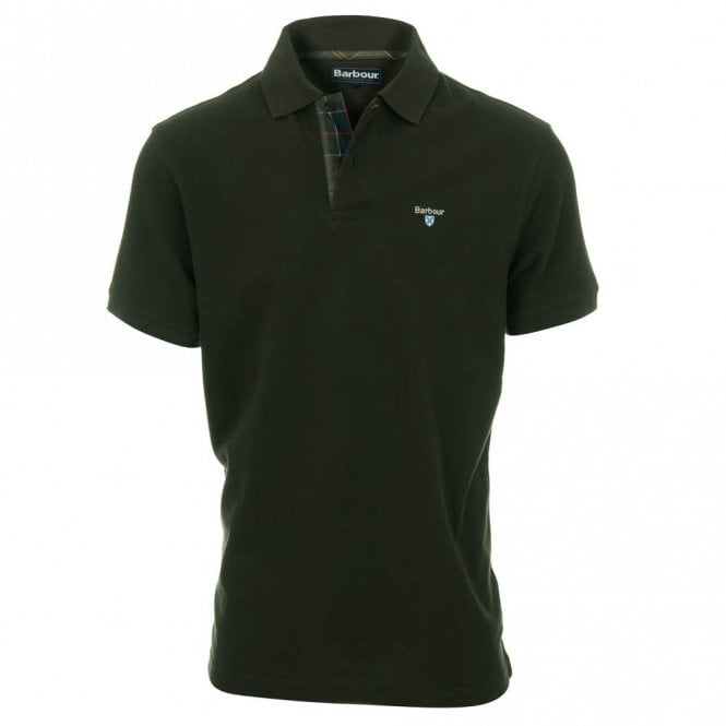 Barbour Tartan Pique Polo Shirt - Green