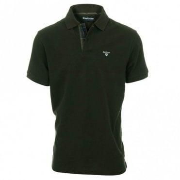Tartan Pique Polo Shirt - Green