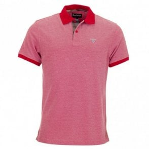 Tartan Pique Polo Shirt - Red