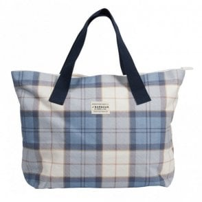 Barbour Tartan Printed Shopper Bag - Blue