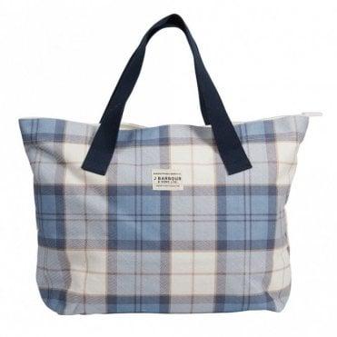 Barbour Tartan Printed Shopper Bag - Blue