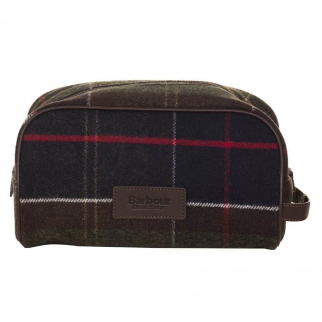 Barbour Wash Bag - Green Tartan