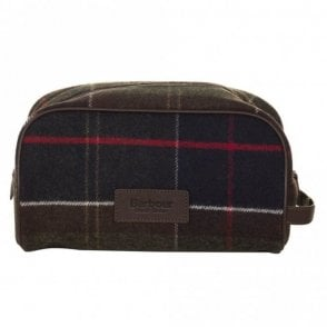 Wash Bag - Green Tartan