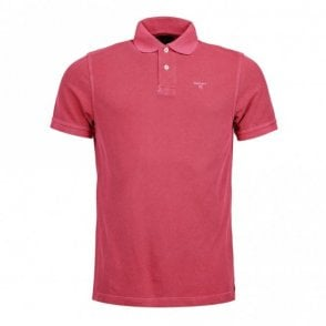 Washed Sports Polo shirt - Fushia Pink