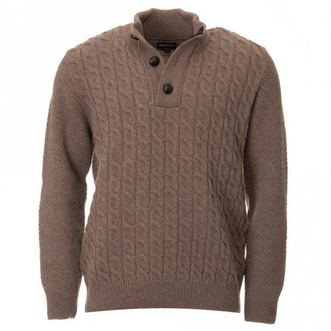 Barbour Weyburgh Half Button Pullover - Beige