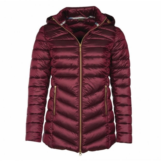Barbour Women's Ailith Quilt Jacket Berry Pink - Pink