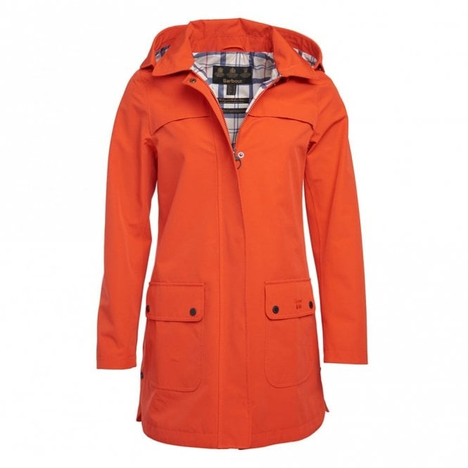Barbour Women's Almanac waterproof Jacket - Orange