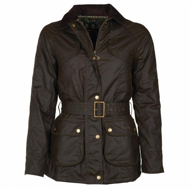 Barbour Women's Ambleside Wax Jacket Olive - Green