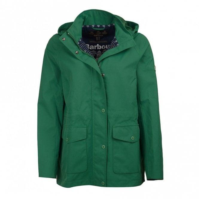 Barbour Women's Backshore Waterproof Breathable Jacket - Clover Green