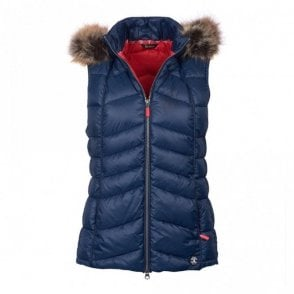 Women's Bernera Gilet Navy/Red