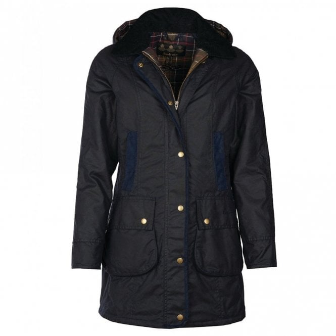 Barbour Women's Bower Wax Jacket - Navy