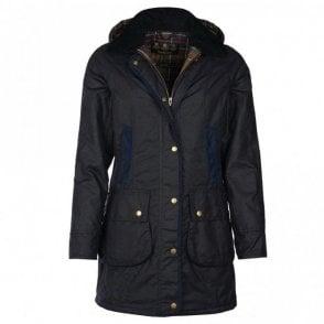 Women's Bower Wax Jacket - Navy