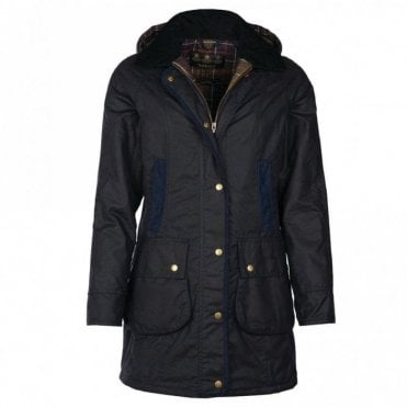 Women's Bower Wax Jacket - Navy
