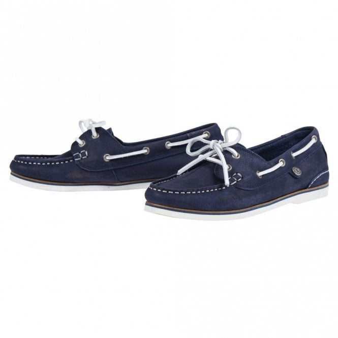 Barbour Women's Bowline Boat Shoe - Navy Canvas