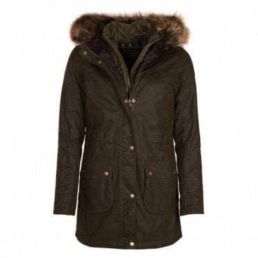 Women's Dartford Wax Jacket Olive - Green